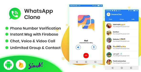 DreamsChat - WhatsApp Clone - Native Android App with Firebase & Sinch for Call - CodeCanyon Item for Sale
