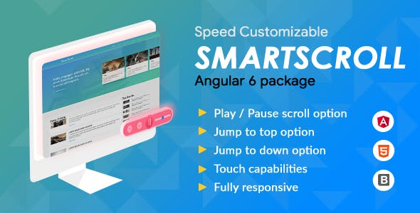 Smartscroll - News Feed Scrolling plugin - Angular 6 package