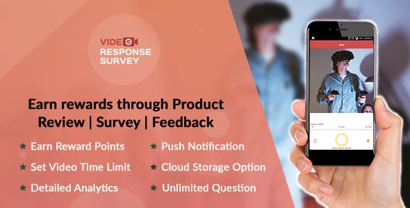 Product Review | Survey | Feedback through Video - Native Android App + Admin Panel