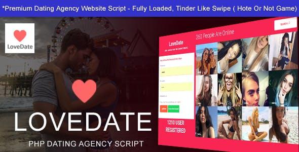 LoveDate - Premium Dating Script | Touch Responsive Swipe