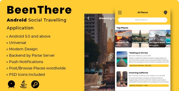 BeenThere | Android Social Travelling Application - CodeCanyon Item for Sale