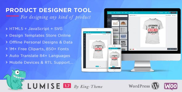Product Designer for WooCommerce WordPress | LUMISE.COM