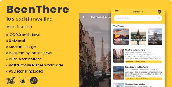 BeenThere | iOS Social Travelling Application - CodeCanyon Item for Sale