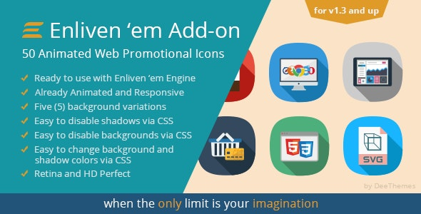 Enliven 'em Premium Add-on: Web Promotional Icons - CodeCanyon Item for Sale