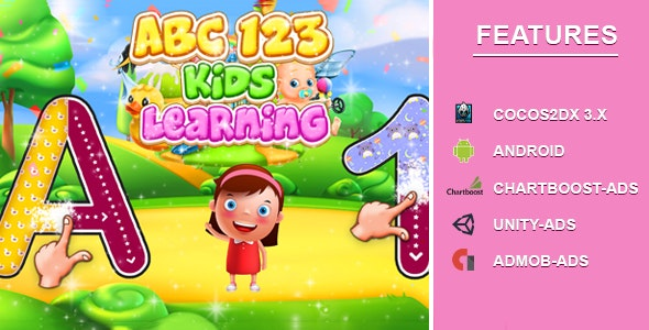 Abc 123 Tracing Learning game [IOS] - CodeCanyon Item for Sale