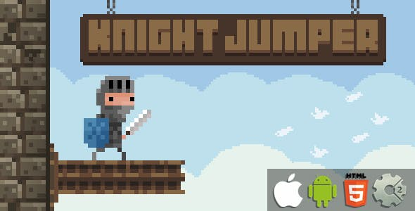 Knight Jumper - HTML5 Game + Mobile Version! (Construct 2 / CAPX)