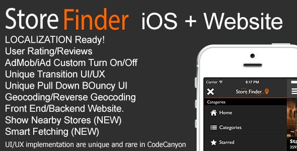 Store Finder iOS + Website v1.0