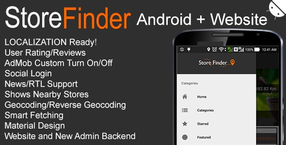 Store Finder Android + Website v1 0 by MGAppcelerator