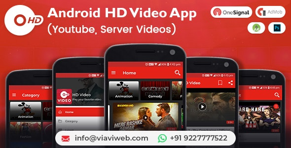 Android HD Video App (Youtube, Server Videos ) - CodeCanyon Item for Sale