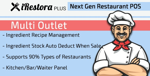 iRestora PLUS Multi Outlet - Next Gen Restaurant POS - CodeCanyon Item for Sale