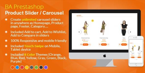 Prestashop Responsive/Unlimited Product Slider Carousel Module – Prestips