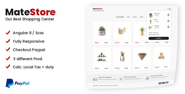 MateStore - Responsive Shopping Cart