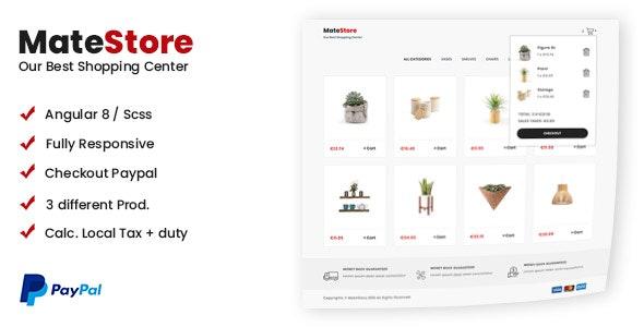 MateStore - Angular Shopping Cart - CodeCanyon Item for Sale