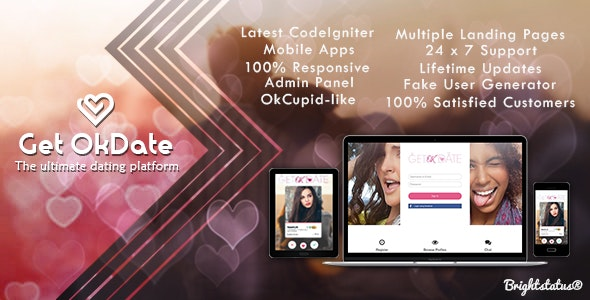OkDate - Dating apps and web by Brightstatus | CodeCanyon