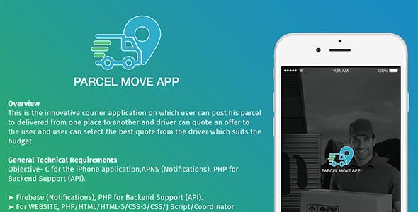 Parcel Move Full Application for iOS