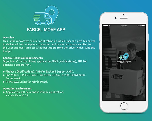 Parcel Move Full Application for iOS - CodeCanyon Item for Sale