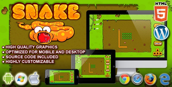 Snake - HTML5 Game by codethislab | CodeCanyon