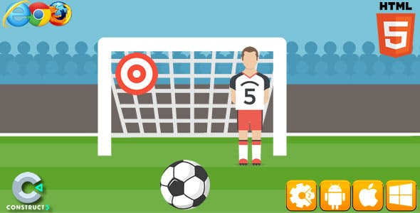 Football Kick - HTML5 Game (C3)