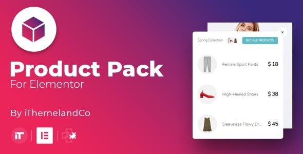 Product Pack For Elementor