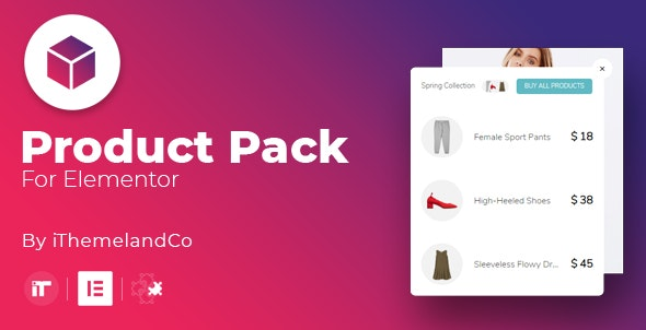 Product Pack For Elementor - CodeCanyon Item for Sale