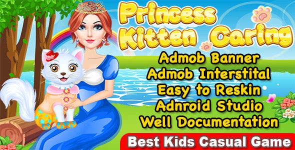 Princess Kitty Care + Kitty Makeover Game For Kids + Ready For Publish