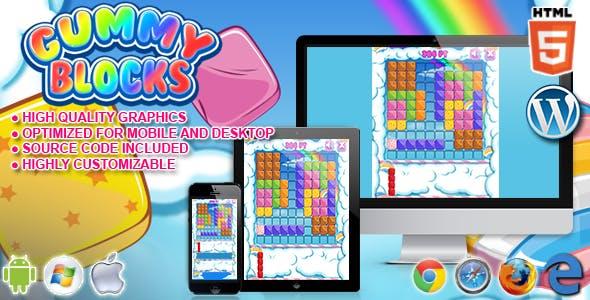 Gummy Blocks - HTML5 Puzzle Game