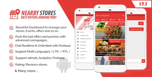 NearbyStores - Offers, Events & Chat Realtime + Firebase 1 7