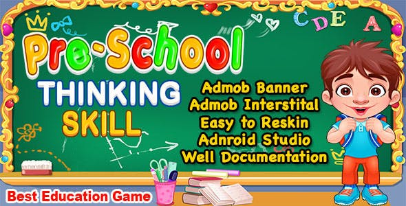 Pre School Thinking Skill Game + Best Kids Education Game + Ready For Publish