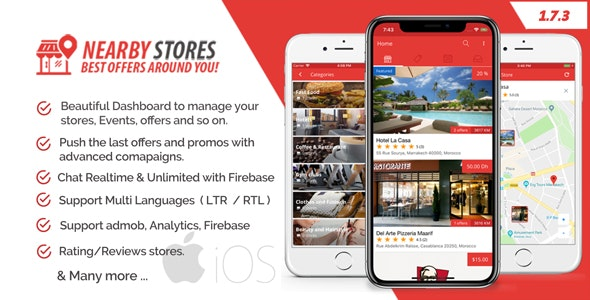 NearbyStores iOS - Offers, Events & Chat Realtime + Firebase