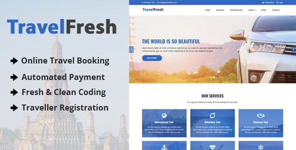TravelFresh - Travel Agency CMS with Online Booking System