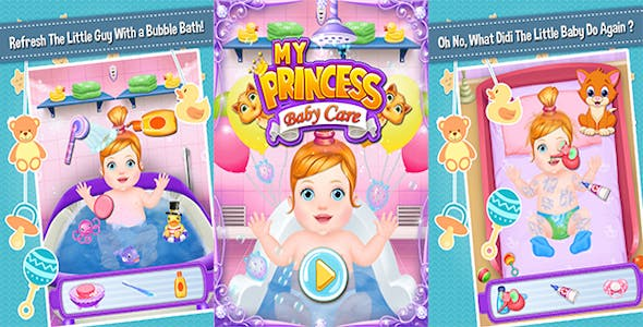 My Princess Baby Care + Best Kids Game + Education Game + (Admob + Android Studio)