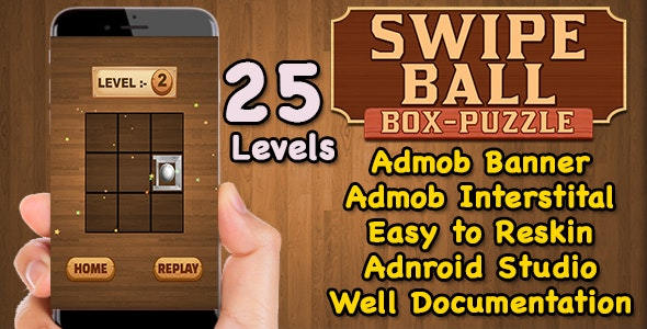 Swipe Ball Box Puzzle Game For Kids + Brain Teasers + Admob + Android Studio + Ready For Publish - CodeCanyon Item for Sale