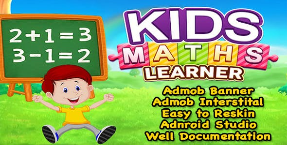 Kids Maths Learner + Kids Education Game + (Admob + Android Studio) Ready For Publish