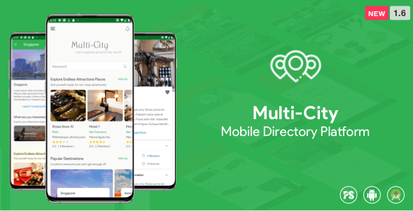 Multi-City ( Directory Android App with Unlimited Cities ) 1.2 - CodeCanyon Item for Sale
