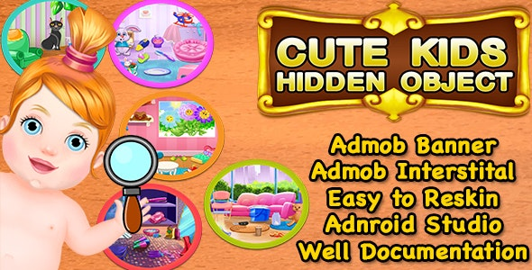Cute Kids Hidden Object + Best Hidden Object Game For Kids + Admob + Android Studio - CodeCanyon Item for Sale