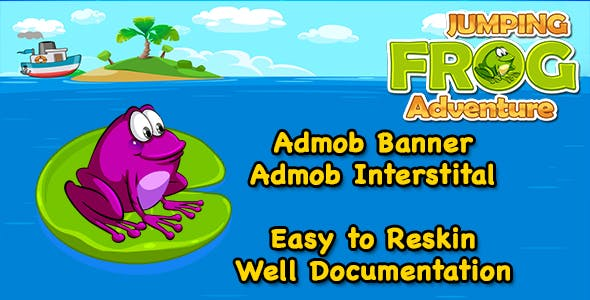 Jumping Frog Adventure + Easy To Reskin + Admob + Android Studio