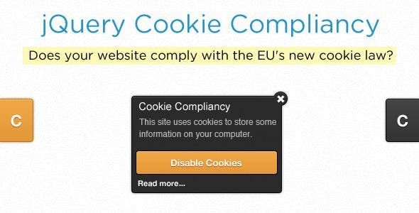 jQuery Cookie Compliancy