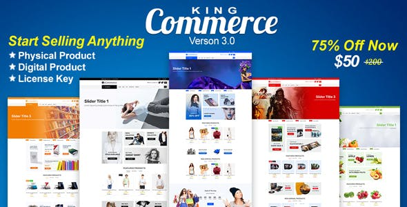 KingCommerce - All in One Single/Multi Vendor eCommerce Business Management System - CodeCanyon Item for Sale