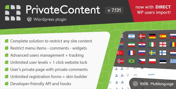 PrivateContent - Multilevel Content Plugin - CodeCanyon Item for Sale