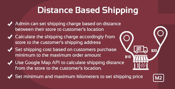 Distance Based Shipping Magento 2 Extension