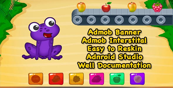 Hungry Frog Rush + Admob + Android Studio - Ready For Publish