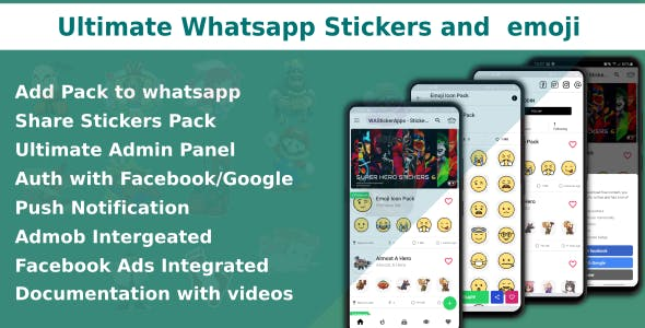 Make A Emoiji App With Mobile App Template from CodeCanyon