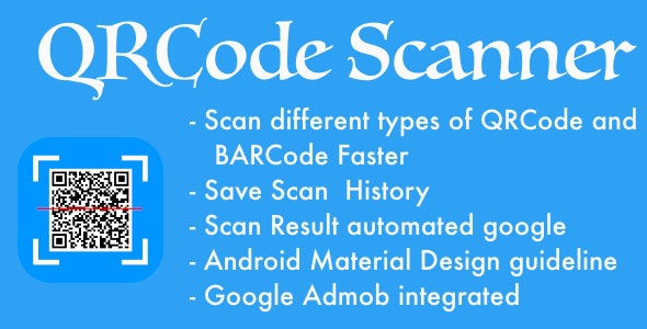 QR Code & Barcode Scanner For Android With Admob - CodeCanyon Item for Sale