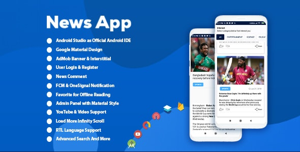Android Best News App with Admin Panel by Apps-Master