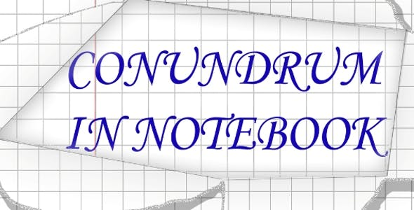 Сonundrum in notebook