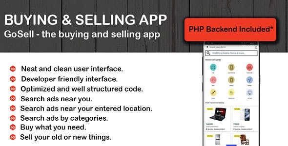 Classified Native Android App - Buy & Sell App