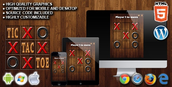 Tic Tac Toe - HTML5 Game - CodeCanyon Item for Sale