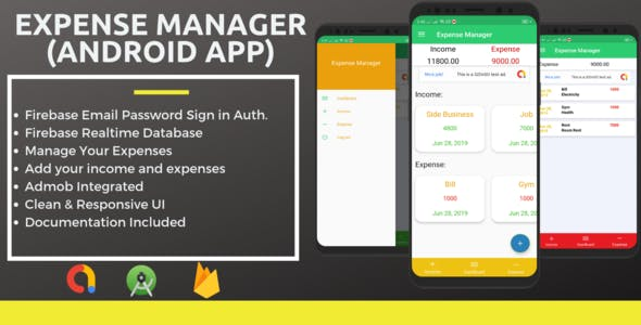 Expense Manager Android App AdMob Integrated