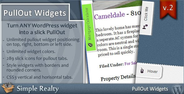 PullOut Widgets for WordPress - CodeCanyon Item for Sale