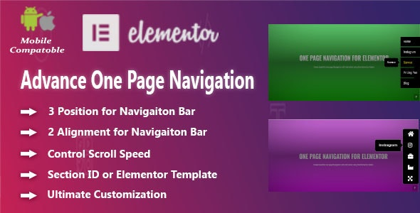 Advanced One Page Navigation for Elementor - CodeCanyon Item for Sale